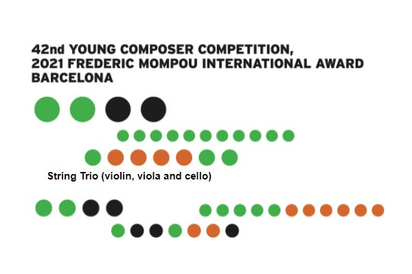 42nd Young Composer Competition, 2021 Frederic Mompou International Award Barcelona